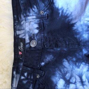 Guess Pants - Size 29 Guess Blue tie dye jean shorts boho hippie