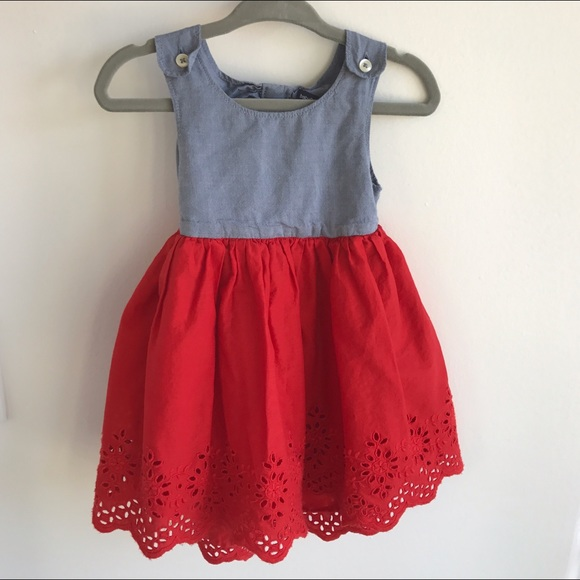 46b41071942 GAP Other - 🇺🇸❤️FOURTH OF JULY Red   Chambray Eyelet Dress