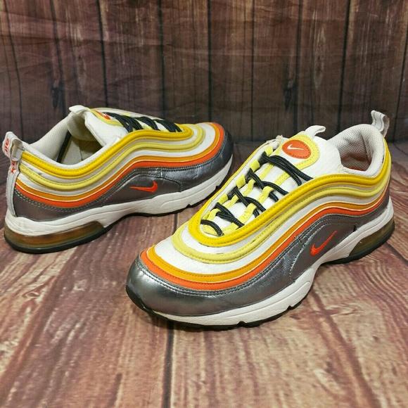 le scarpe nike air max 97 zen flint grigio arancio blaze sz 75 poshmark