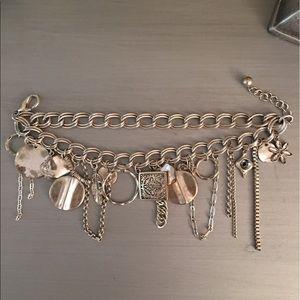  Eclectic Silver Leaf Charm Bracelet