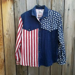 Vintage Tops - Vintage Roper USA Button Down Top