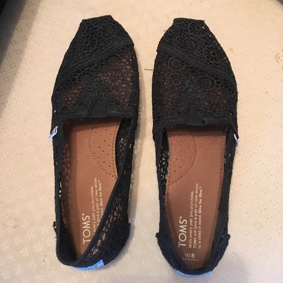 18ef8d25323 TOMS Shoes - TOMS black Moroccan crochet woman s classics