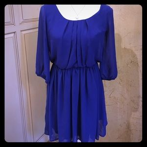 BCX Dresses & Skirts - Super cute blue dress perfect for work or play