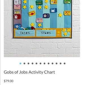 Gobs of Jobs Activity Chart From Land Of Nod NWT