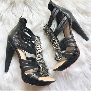 L.A.M.B. Shoes - LAMB Tough & Sexy Black Sandals