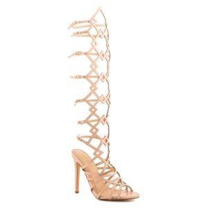 Liliana Shoes - Nude Gladiator Heels