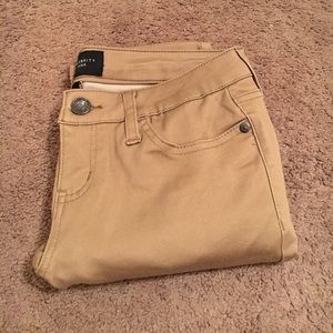 NWOT Tan Skinny Stretchy Jeans