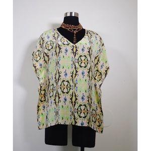 Tibi Tops - Tibi Silk printed blouse top cover-up small S