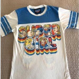 Junk Food Clothing Tops - Junk food Super Girl Shirt