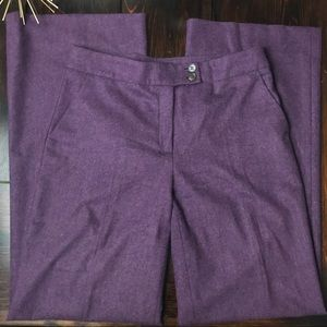 Etro Pants - Step Wool Eggplant purple trousers
