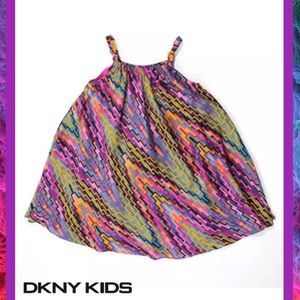 DKNY GIRLS Totally Posh Multi Colored Girls Dress
