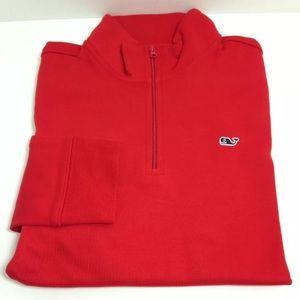 Vineyard Vines Other - VINEYARD VINES Red Jersey 1/4 Zip Jacket Pullover