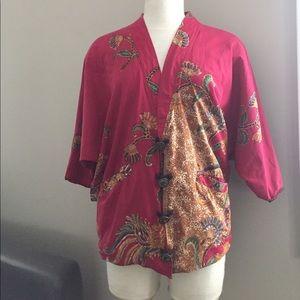 Jackets & Blazers - Gorgeous red jacket, Handmade in Bali, EUC!