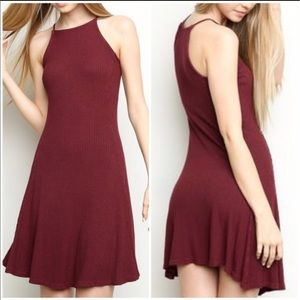 Brandy Melville Dresses & Skirts - Maroon ribbed Abigail dress