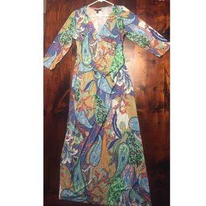 ⋅SALE⋅MSK Paisley Multicolor  Maxi Dress