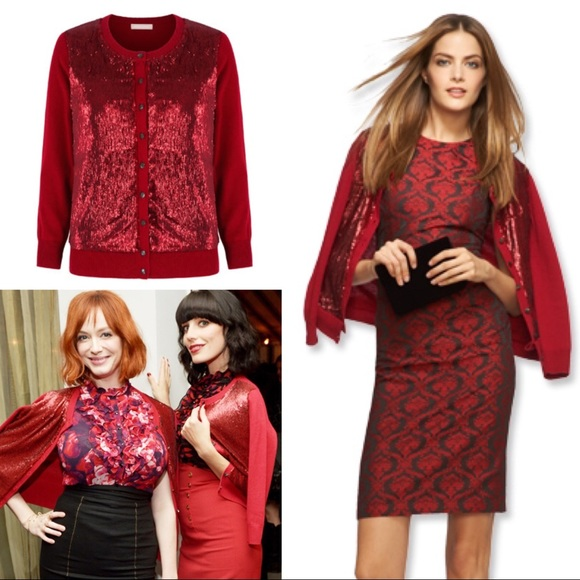 72% off Banana Republic Sweaters - Banana Republic Red Sequin ...