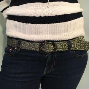 J. Crew Accessories - J Crew women's 100% silk tie belt