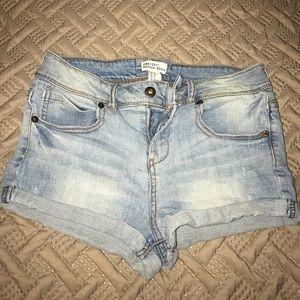Blue jean light wash shorts