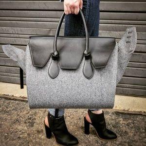 Authentic Celine Tie Tote Felt Bag