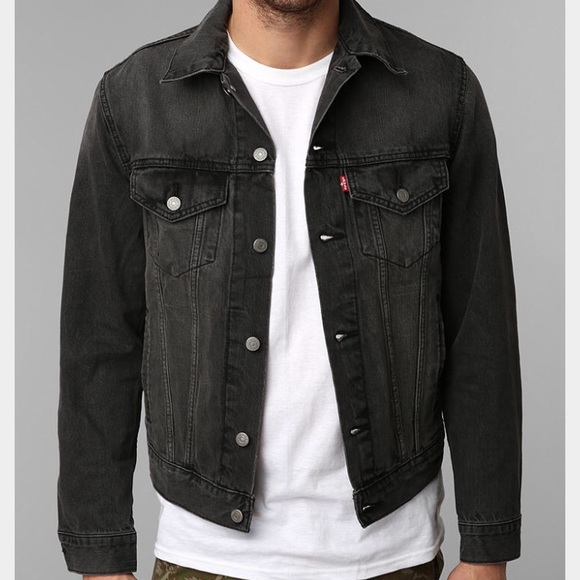 7c96518258dd1 Levi's Jackets & Coats | Mens Levis Washed Black Denim Trucker ...