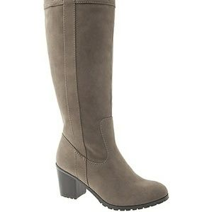 Lane Bryant stacked heel riding boots