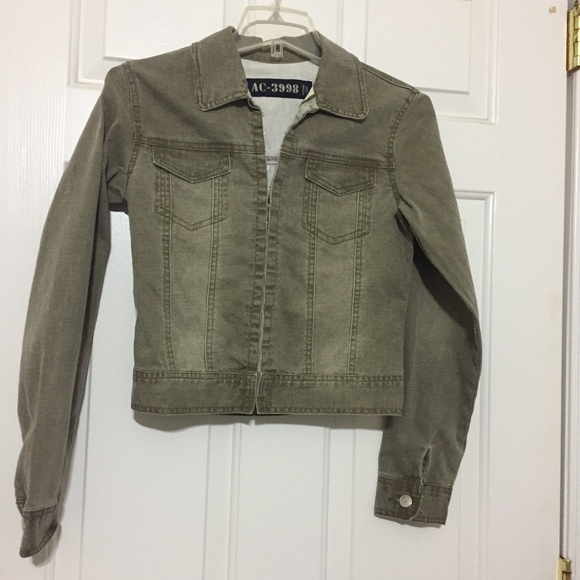 d76a70435d Jackets   Blazers - Faded Olive Green Jean Jacket