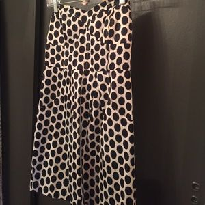 Black and White Polka Dot strapless dress