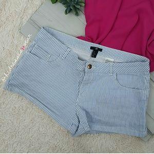 H&M Stripped Denim Shorts