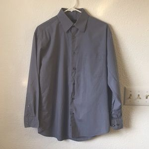 Blue/gray men's dress shirt