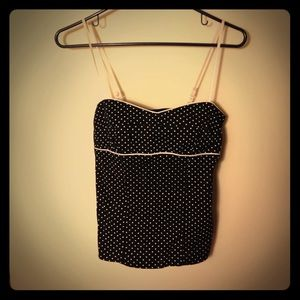 Black with White Polka Dots Tank