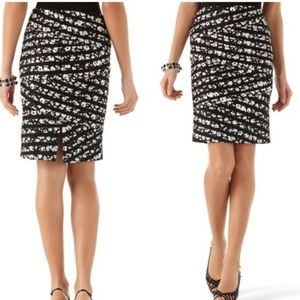 White House Black Market Dresses & Skirts - NWT WHBM floral banded skirt