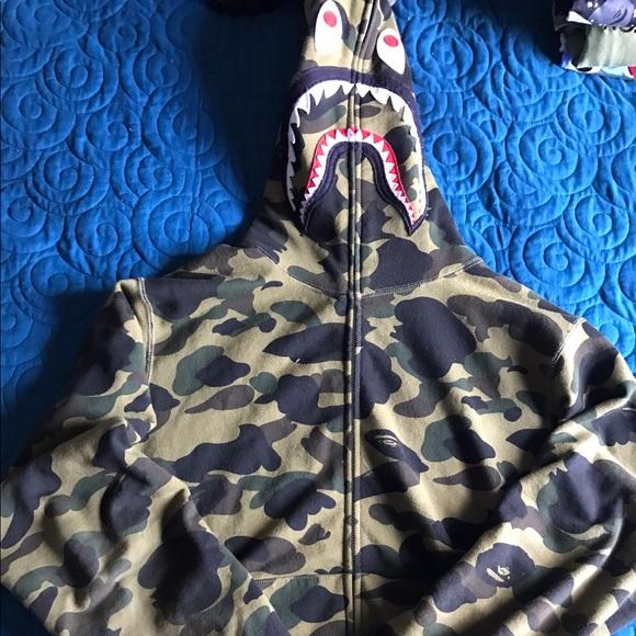 97cecde710 A Bathing Ape Bape Shirts | A Bathing Ape 1st Camo Bape Hoodie Xtra ...