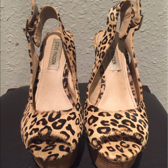 080ed54829c3 Steve Madden Leopard Ponyhair Wedge Sz 6. M_590be4b3713fde79ac02067c