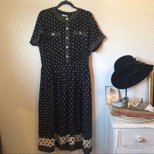 Vintage 50's style polka dot dress