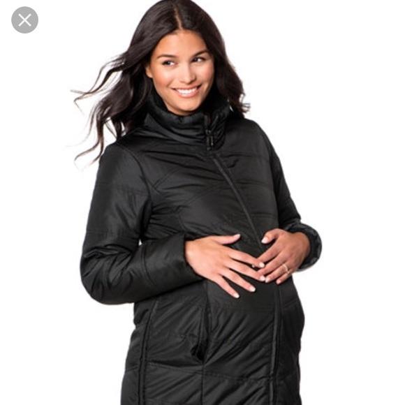 4b66deea506f4 Motherhood Maternity Jackets & Coats | Microfiber Quilted Maternity ...