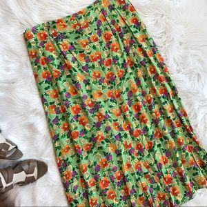 Sag Harbor Dresses & Skirts - Tropical Pineapple Floral Skirt