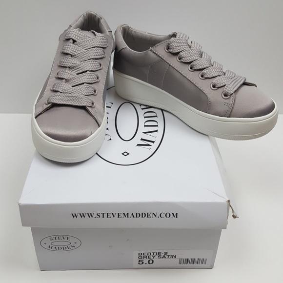 a1d10fd0844 ⬇  60🌟 Steve Madden Bertie-S Grey Satin Shoes