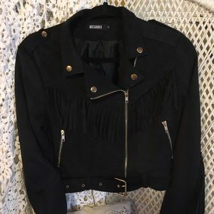 Missguided Jackets & Blazers - Missguided faux suede fringe jacket