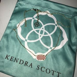 Pink Drusy Kendra Scott Necklace