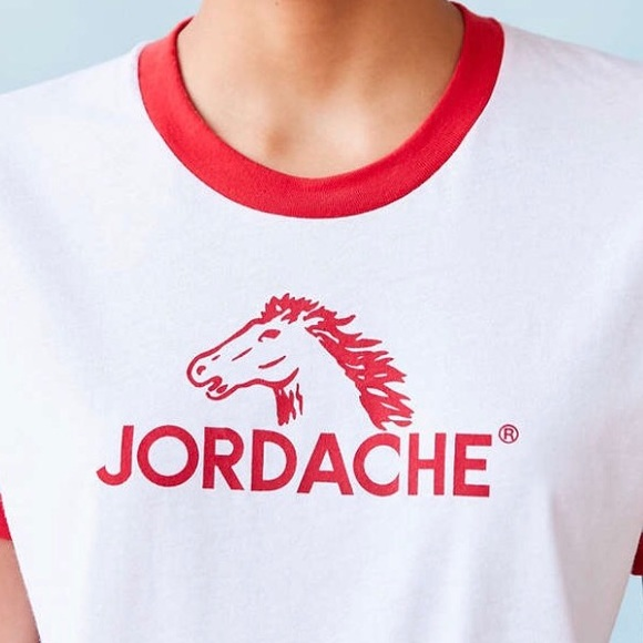 Classic Jordache Horse Logo Ringer Tee
