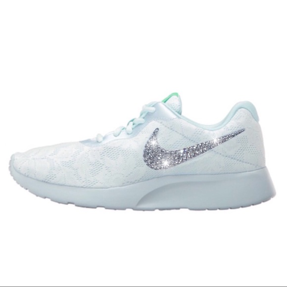 72e9614bed3 Bling Nike Tanjun Lace Shoes w  Swarovski Crystals. Boutique. Nike.  M 590bf17878b31cd0d1024a11. M 590bf17878b31cd0d1024a11