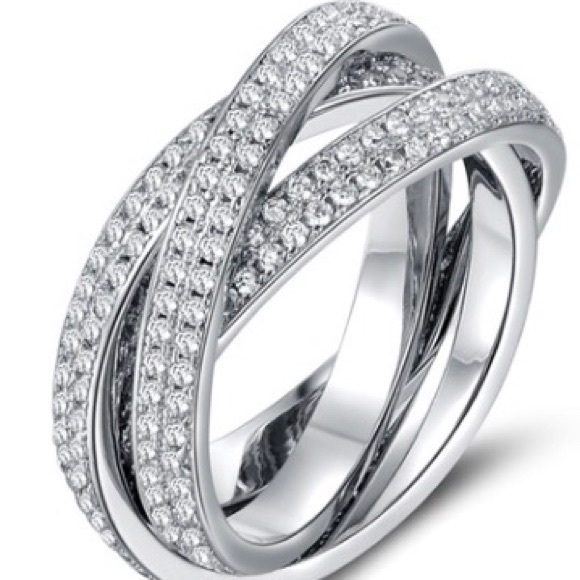 c6c221fdec4 Swarovski Crystal Elements Jewelry | 18k White Gold Plated Rolling ...