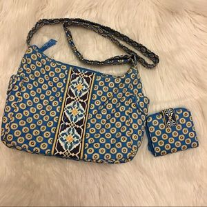 Vera Bradley Handbags - Vera Bradley Riviera Blue Shoulder Bag and Wallet