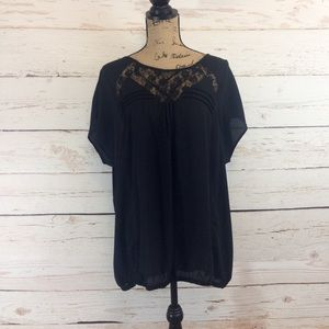 Pure Energy Tops - Black Top with Lace