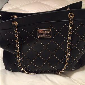 Bebe Au Lait Handbags - Bebe USA black and gold studded purse