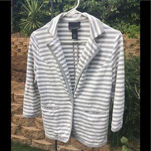 Cynthia Rowley Jackets & Blazers - Grey and white striped cotton blazer😃SALE😮