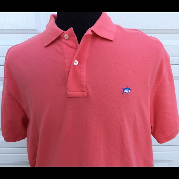 Southern Tide Polo Salmon Color Xl Xl From