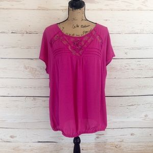 Pure Energy Tops - Pink Top with Lace