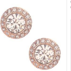 Givenchy Jewelry - GIVENCHY Rose Goldtone &Swarovski Crystal Earrings