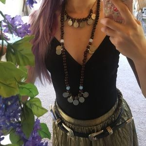 Jewelry - Gypsy coin + moonstone necklace set